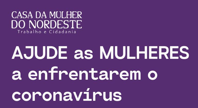 Ajude as mulheres a enfrentarem o coronavírus